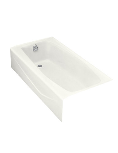 KOHLER Villager 5 Feet Cast Iron Drop-in Non Whirlpool Bathtub in ...