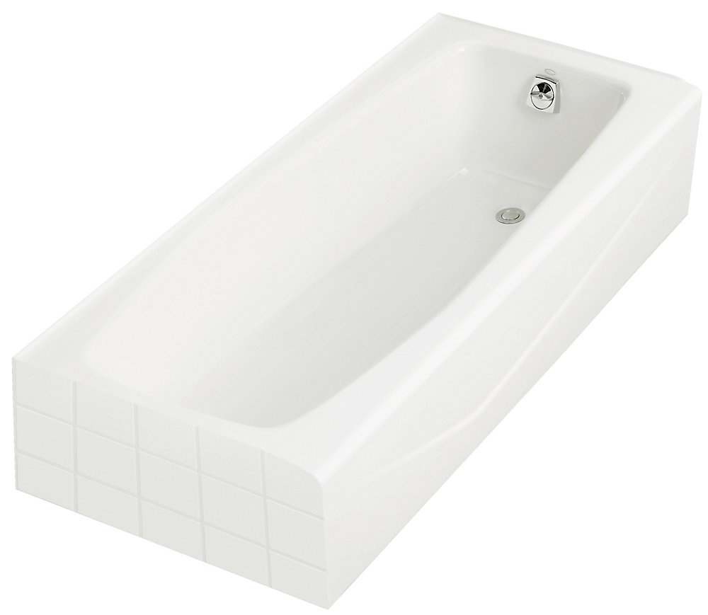 "Villager(R) 60"" x 30"" alcove bath with integral apron and right-hand drain"