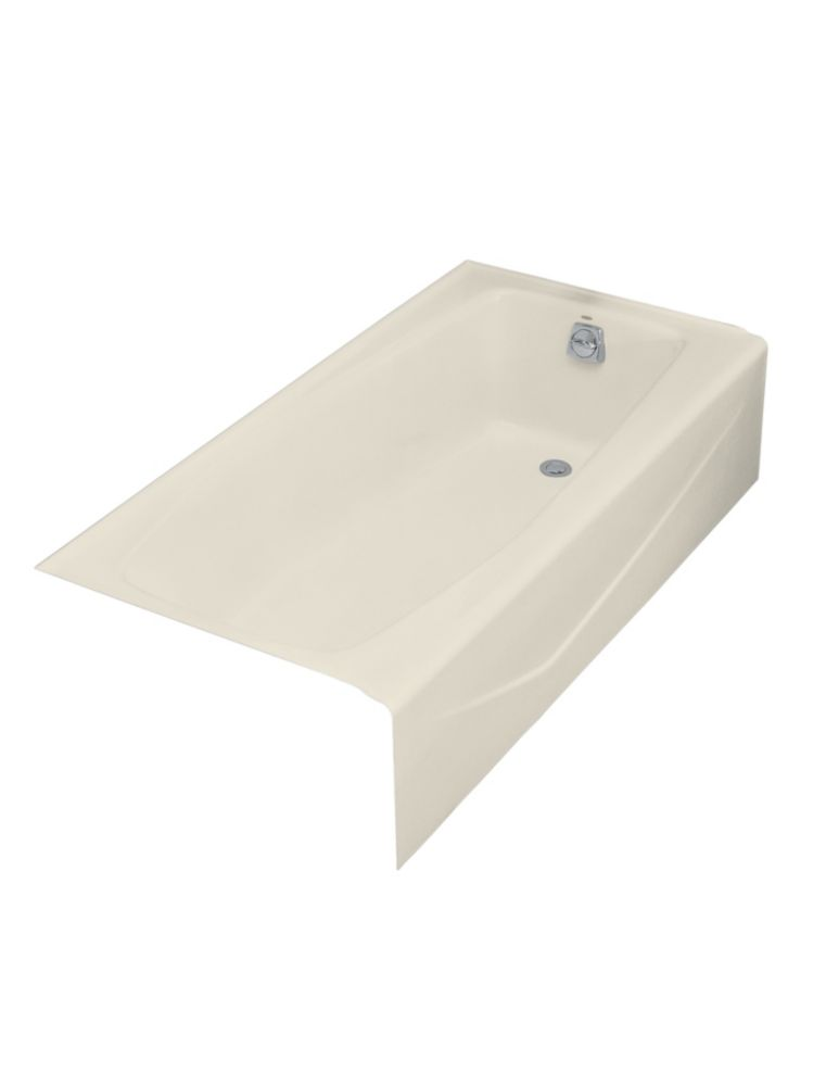 Villager� 5 Feet Cast Iron Drop-in Non Whirlpool Bathtub in Almond