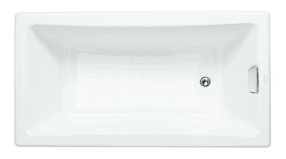 Tea-For-Two<sup>®</sup> 5 Feet Cast Iron Drop-in Non Whirlpool Bathtub in White