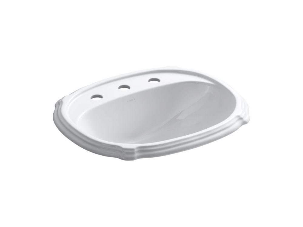 Portrait Self-Rimming Bathroom Sink in White