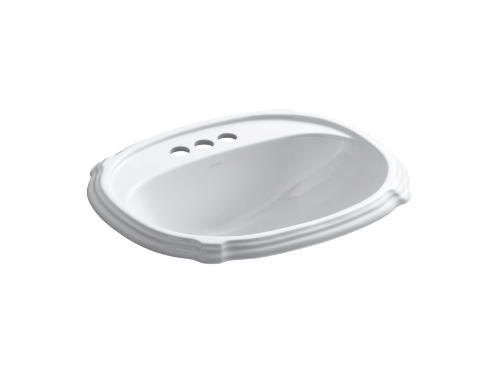 Portrait Self-Rimming Lavatory in White K-2189-4-0 Canada Discount