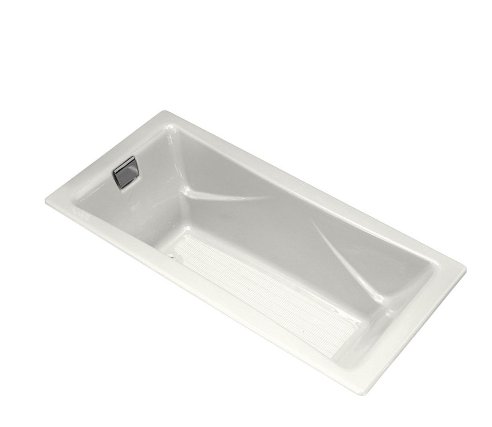 KOHLER Tea-For-Two 6 Feet Cast Iron Drop-in Non Whirlpool Bathtub in White