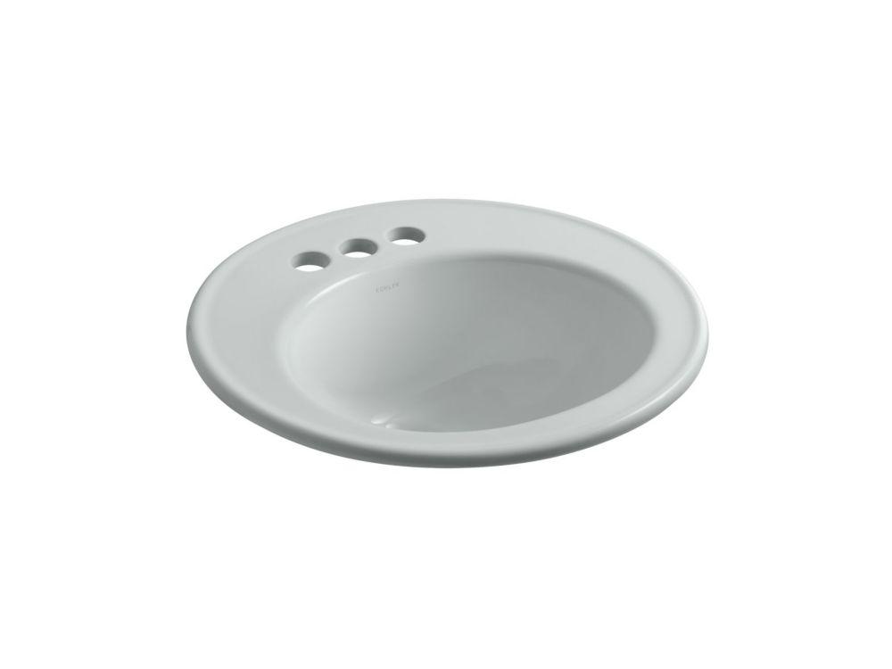 Brookline Self-Rimming Bathroom Sink in Ice Grey