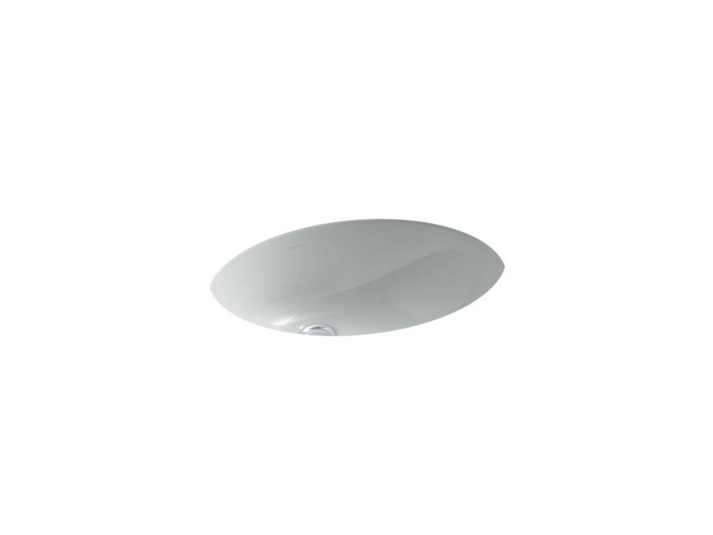 Caxton 19 1/4-inch L x 16 1/4-inch W Undercounter Bathroom Sink in Ice Grey