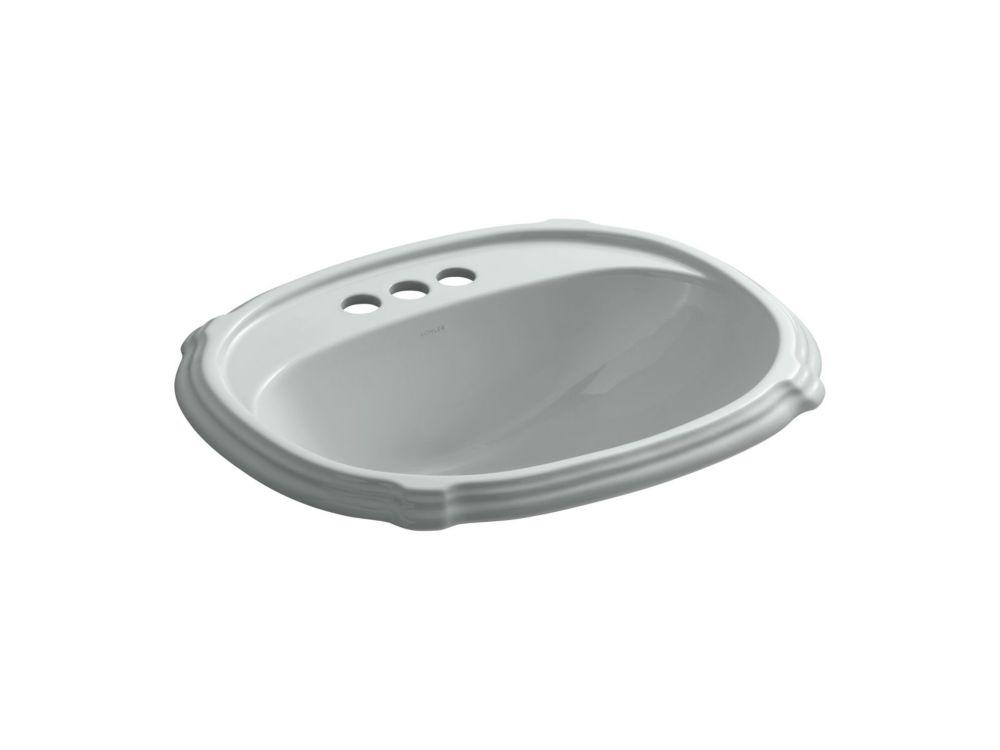KOHLER Portrait(R) drop-in bathroom sink with 4 inch centerset faucet holes