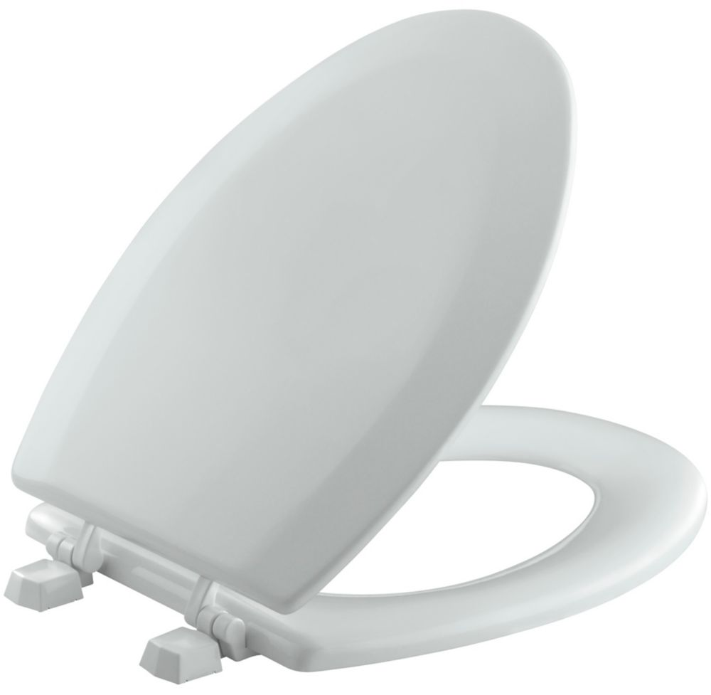 Triko Elongated Closed Front Toilet Seat in Ice Grey