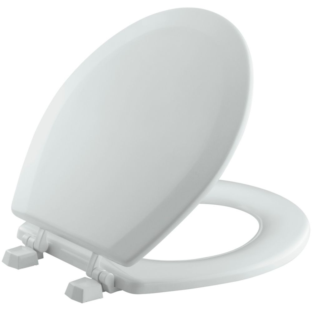 Triko(Tm) Round Molded Toilet Seat in Ice Grey