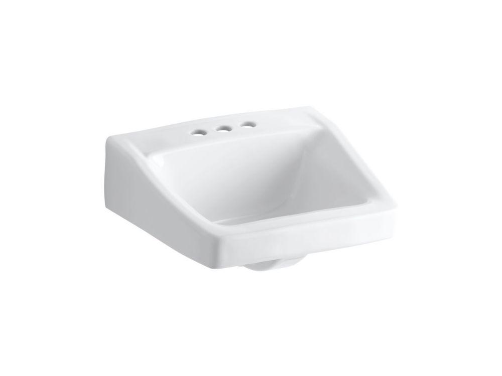 Chesapeake Wall-Mount Bathroom Sink in White