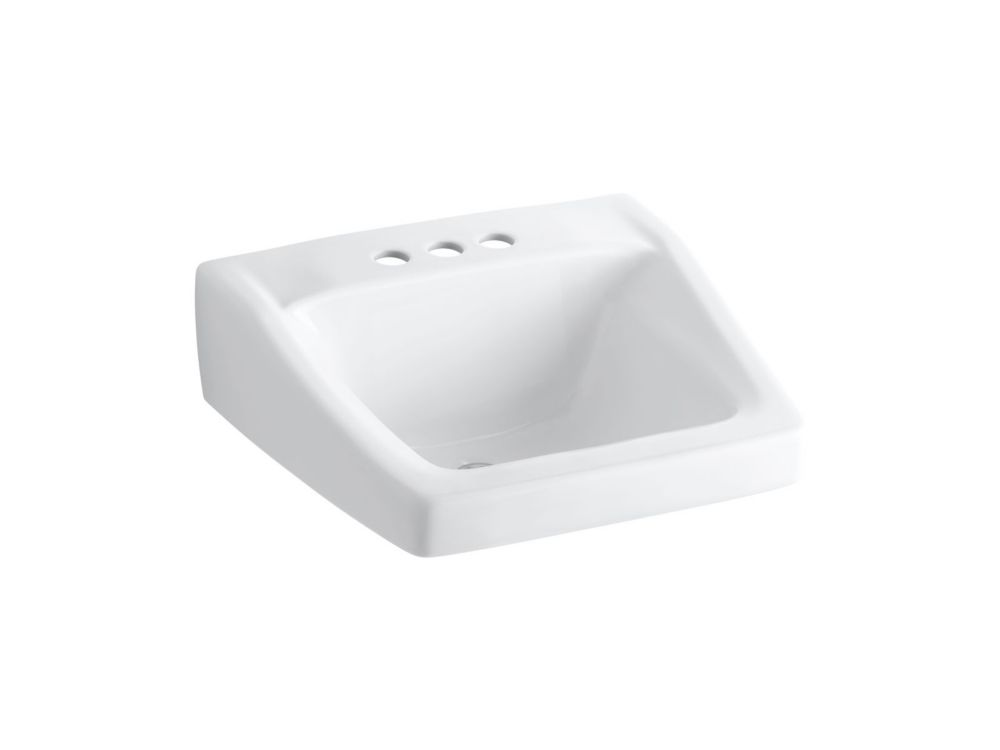 Chesapeake Wall-Mount Bathroom Sink in White