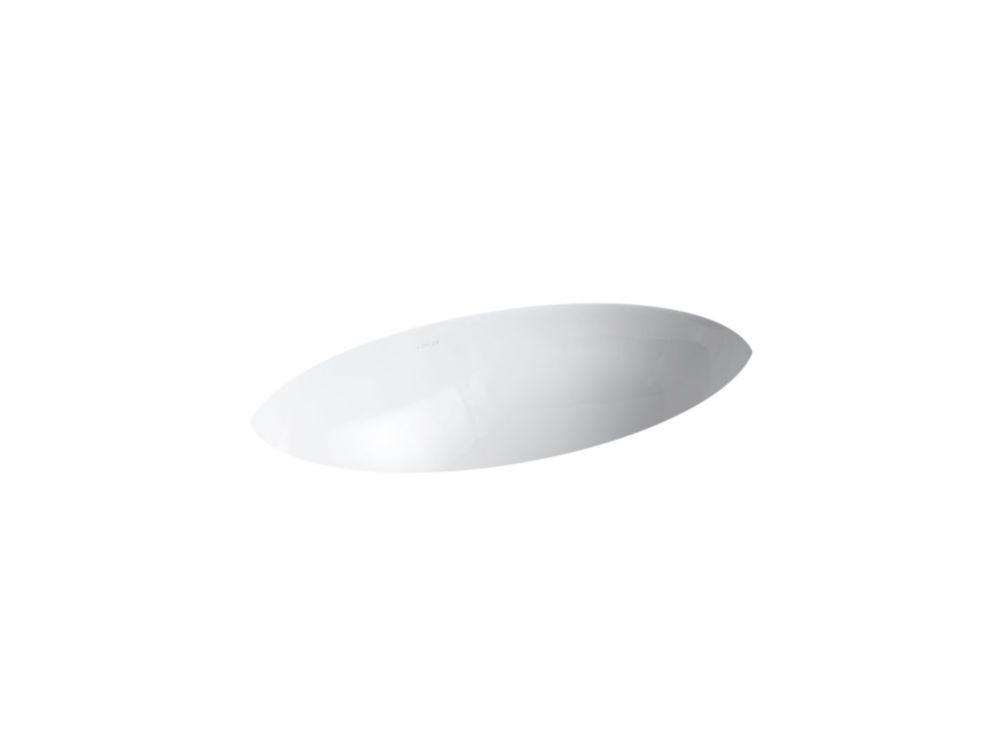 Vintage 23 7/8-inch L x 14 3/8-inch W Undercounter Bathroom Sink in White