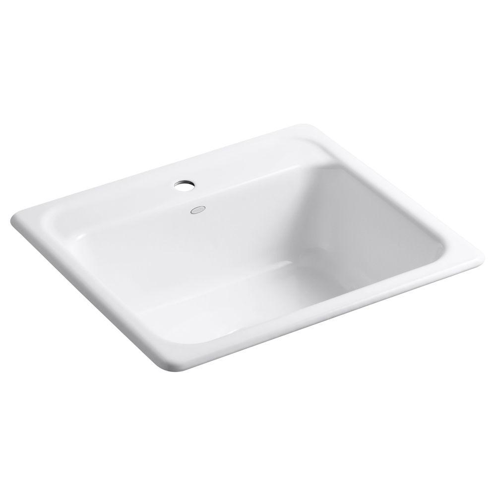 KOHLER MayfieldTm Self Rimming Kitchen Sink in White
