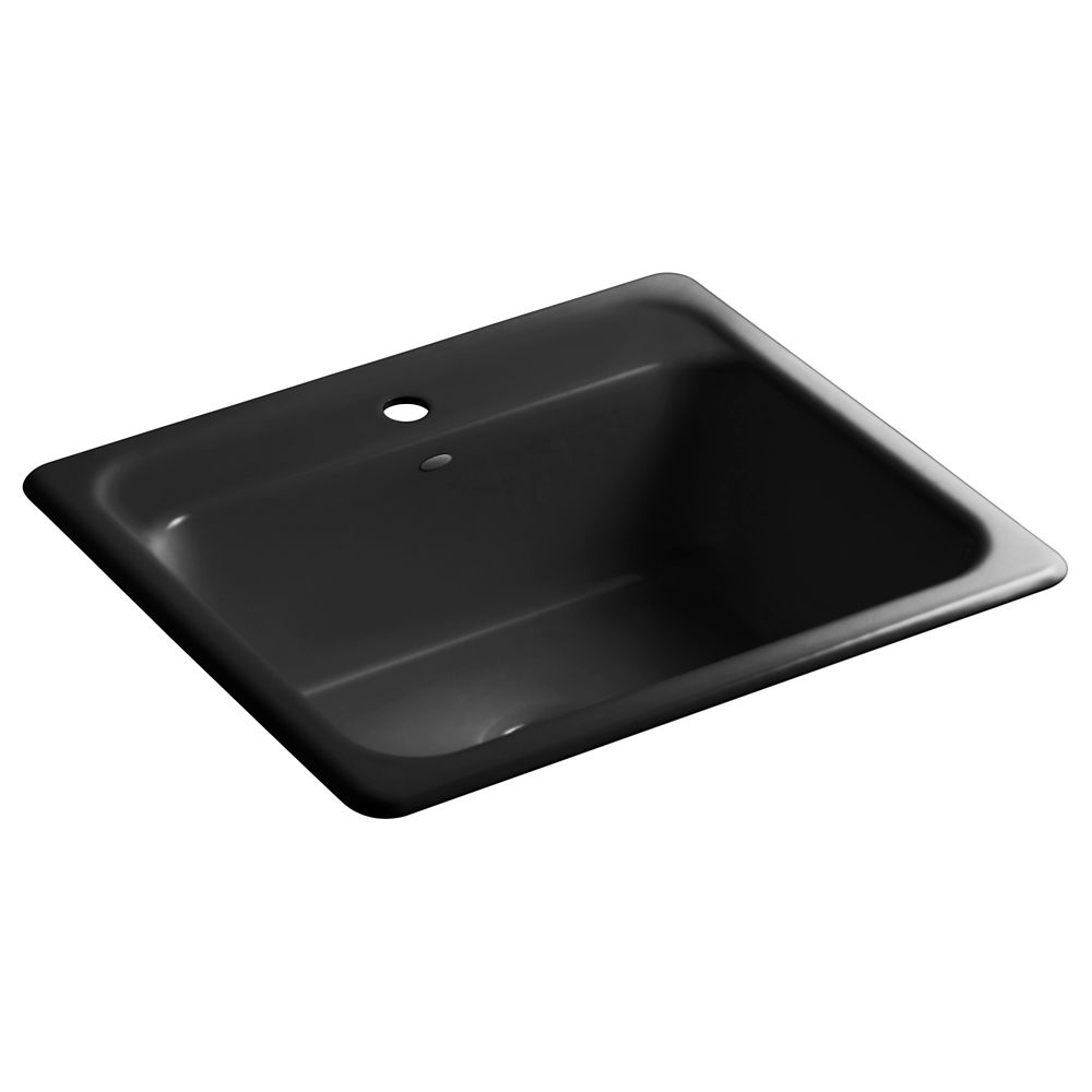 Mayfield(Tm) Self-Rimming Kitchen Sink in Black Black K-5964-1-7 in Canada