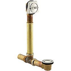 KOHLER Drain mecanique ajustable Clearflo, 1 1/2 po, avec installations au-dessus/a travers le plancher pour baignoire profonde de 17 a 24 po