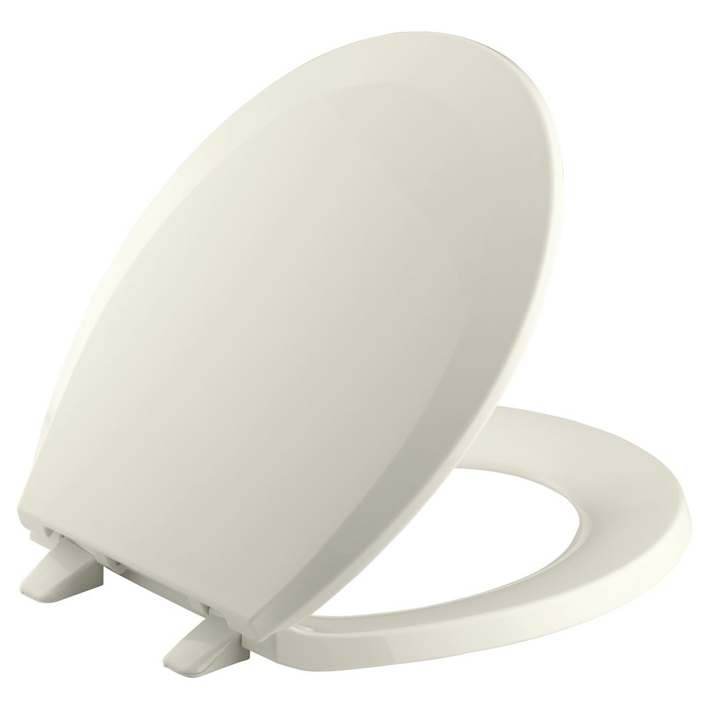 Lustra Round Front Closed Toilet Seat in Biscuit