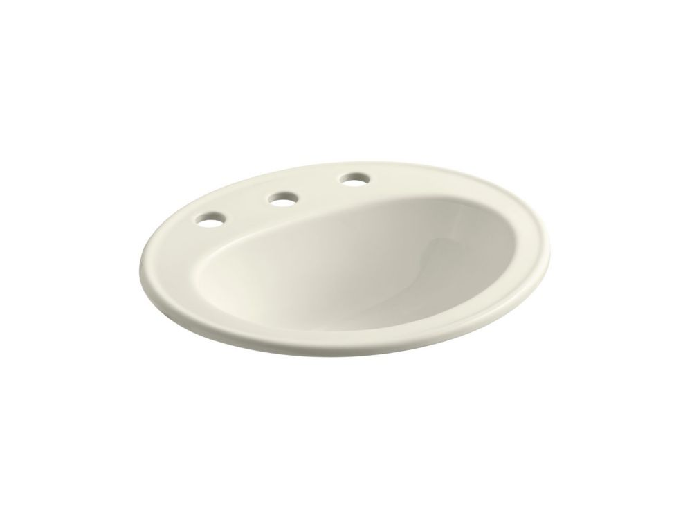 Pennington Self-Rimming Bathroom Sink in Biscuit