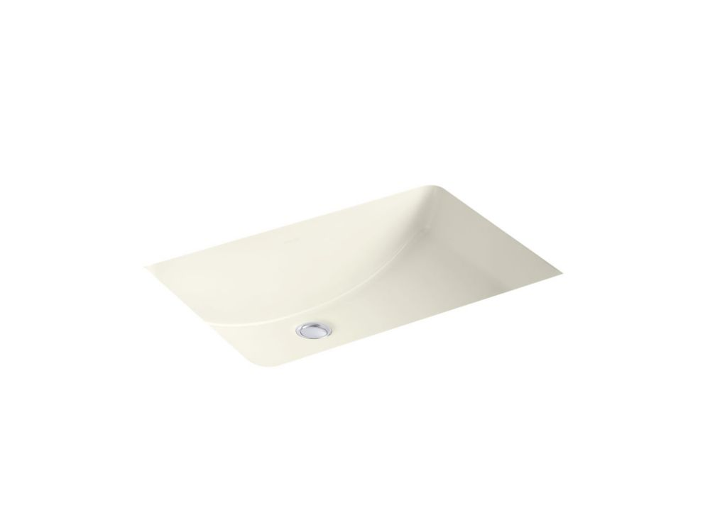 Ladena 23 1/4-inch L x 16 1/4-inch W Undercounter Bathroom Sink in Biscuit