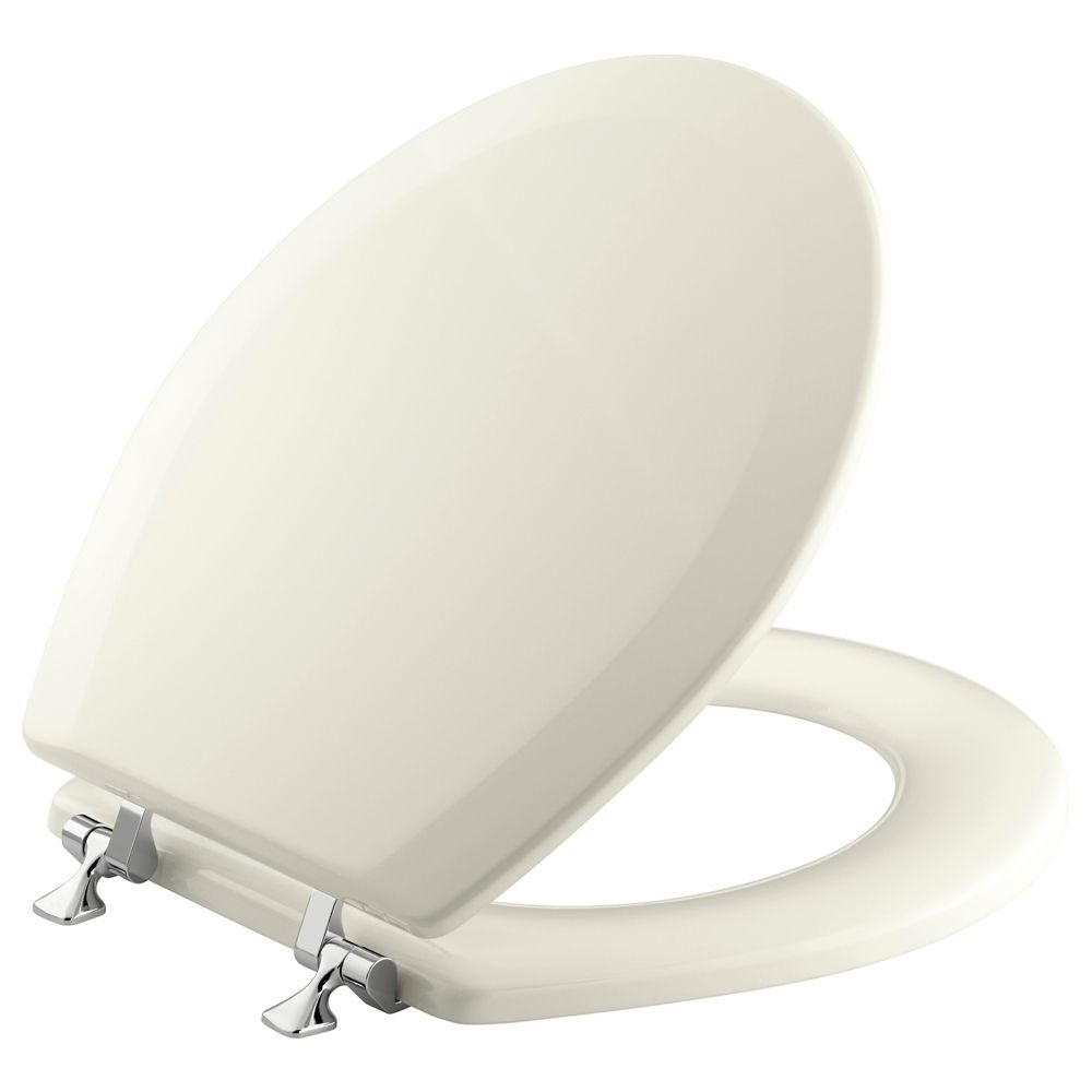 Triko Round Closed Front Toilet Seat in Biscuit