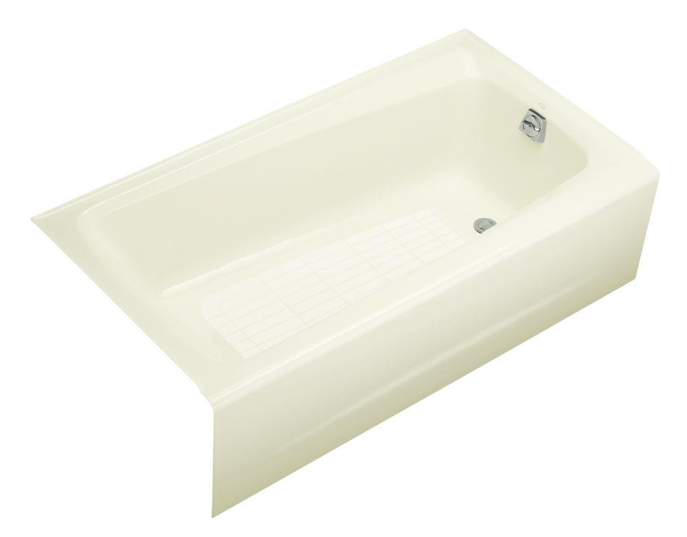 Mendota 5 Feet Bathtub in Biscuit
