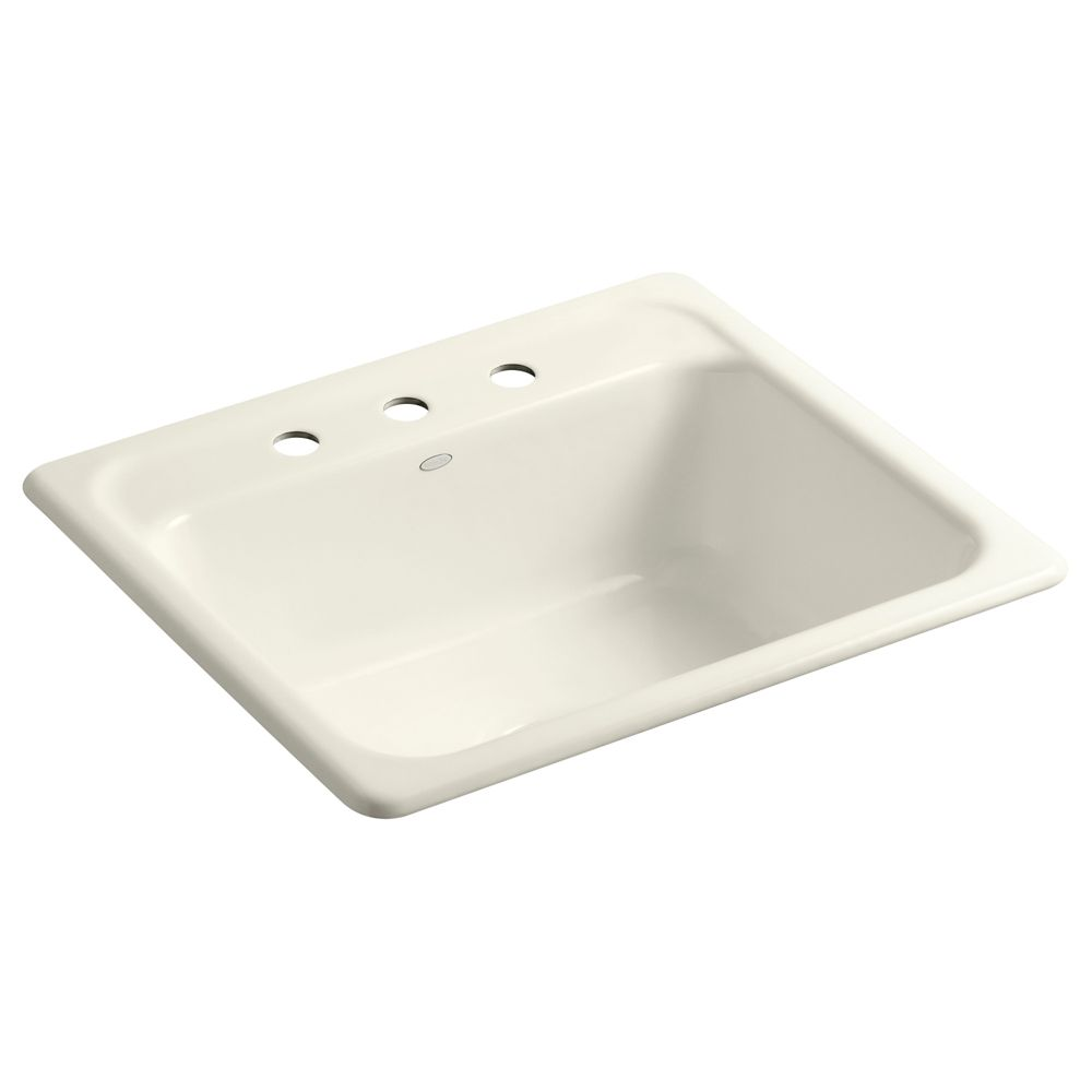 Mayfield(Tm) Self-Rimming Kitchen Sink in Biscuit