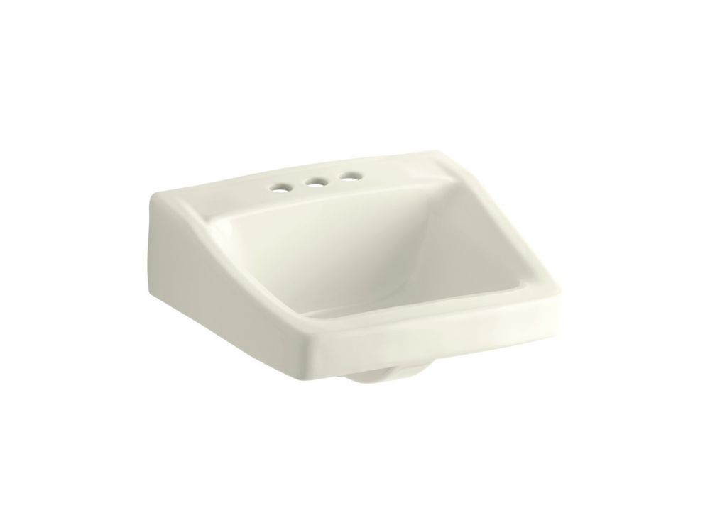 Chesapeake Wall-Mount Bathroom Sink in Biscuit