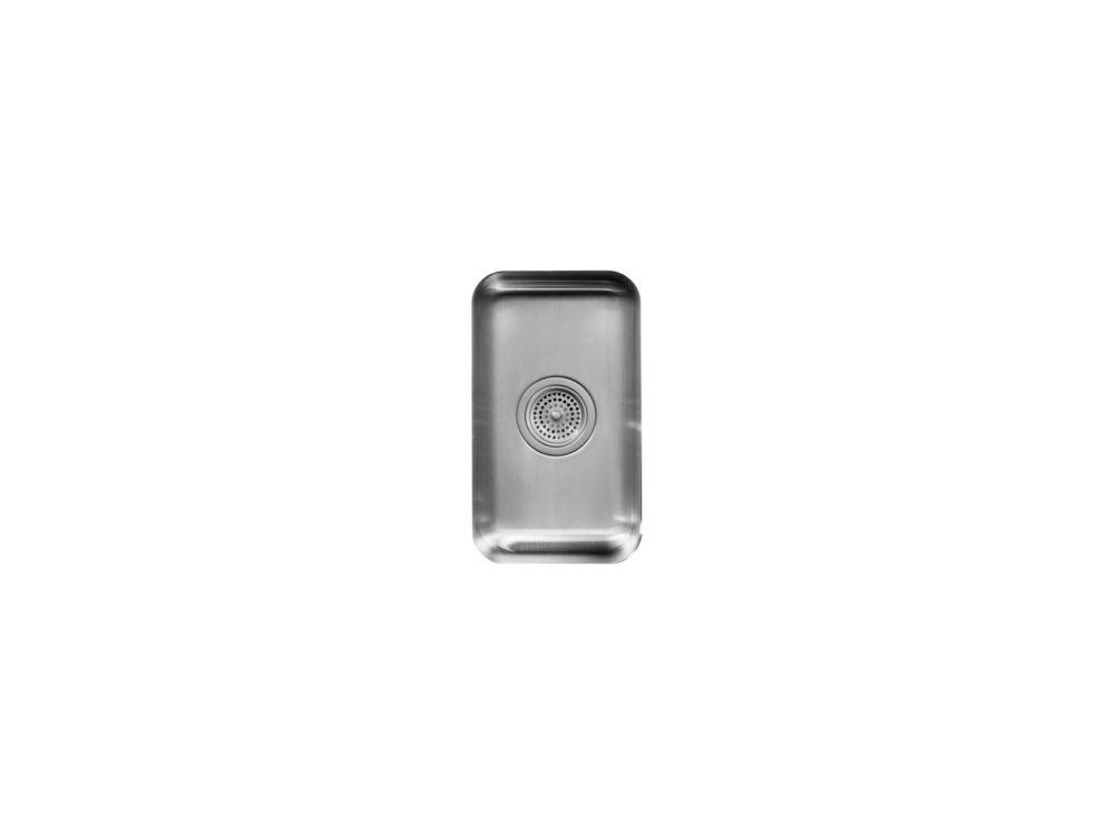 Évier de cuisine sous comptoir carré petit Undertone(R), de 5-1/2 po de profondeur
