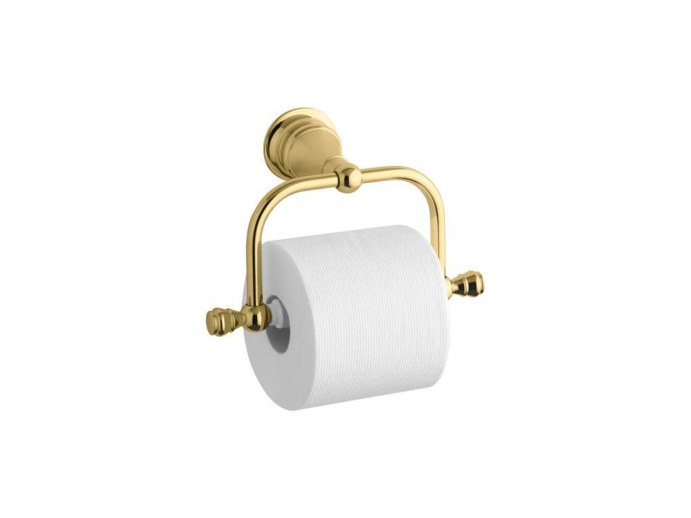 Revival Toilet Tissue Holder in Vibrant Polished Brass