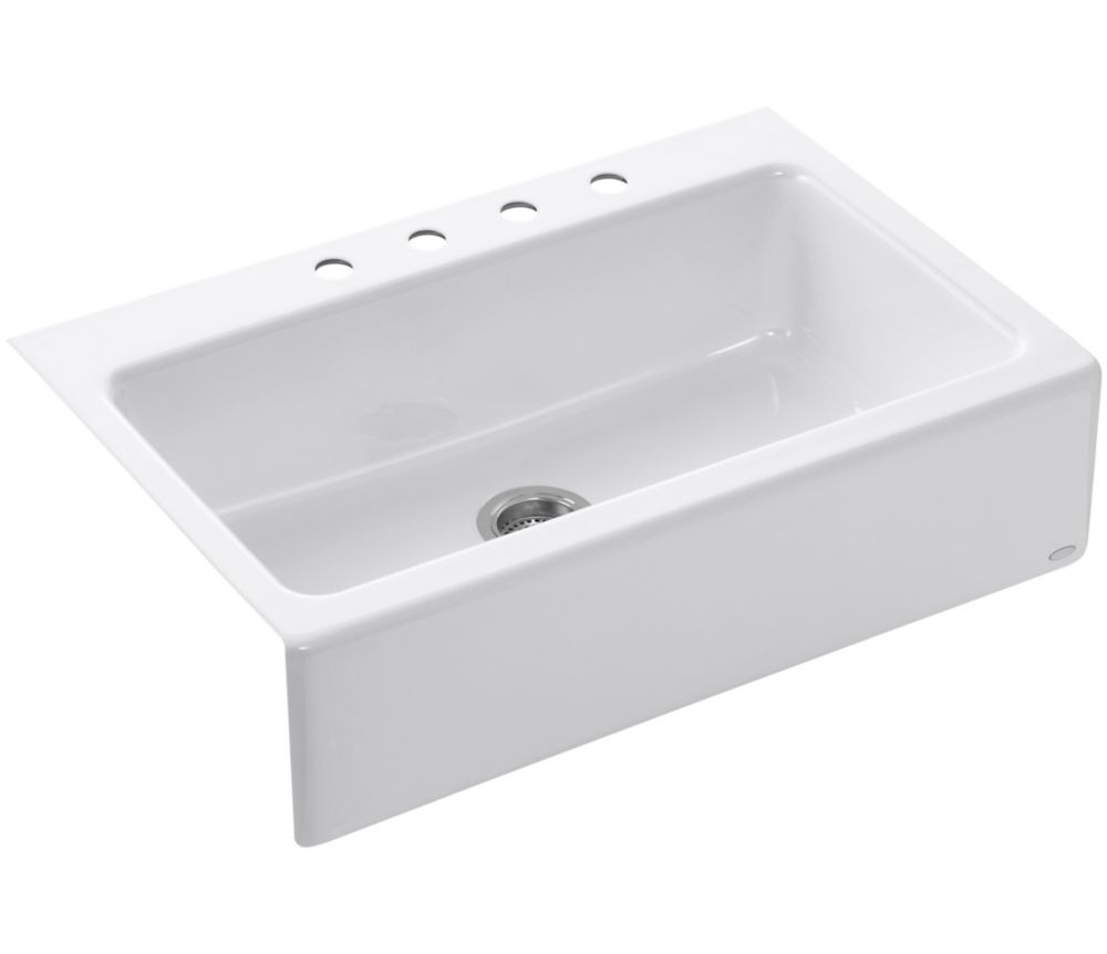 Kohler Dickinson Apron Front Tile In Kitchen Sink In