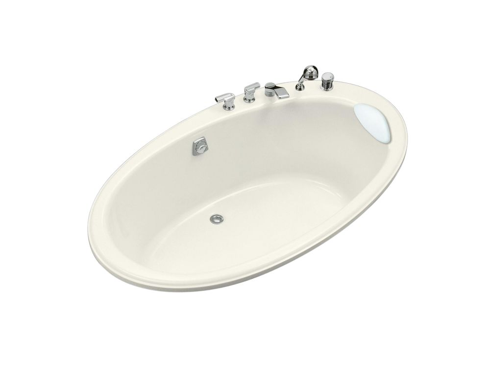 Seaside� 6 Feet Acrylic Oval Drop-in Non Whirlpool Bathtub in Biscuit