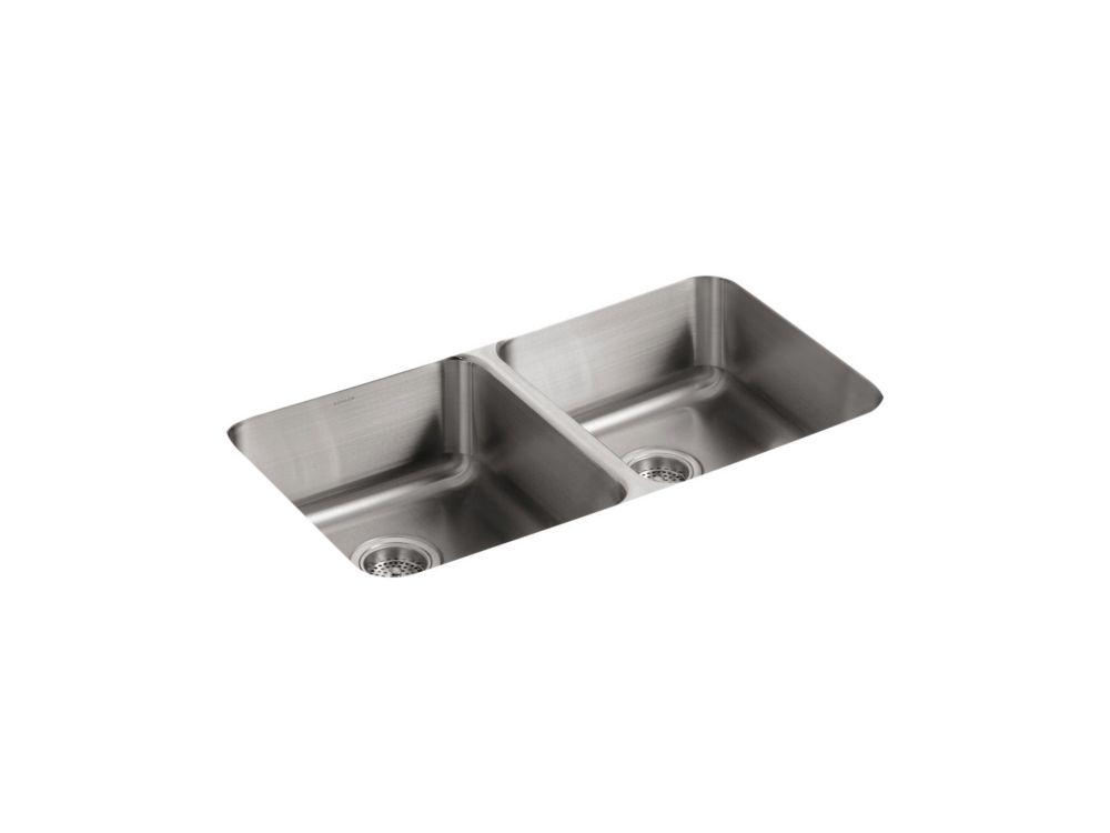 Undertone Double Equal Undercounter Kitchen Sink