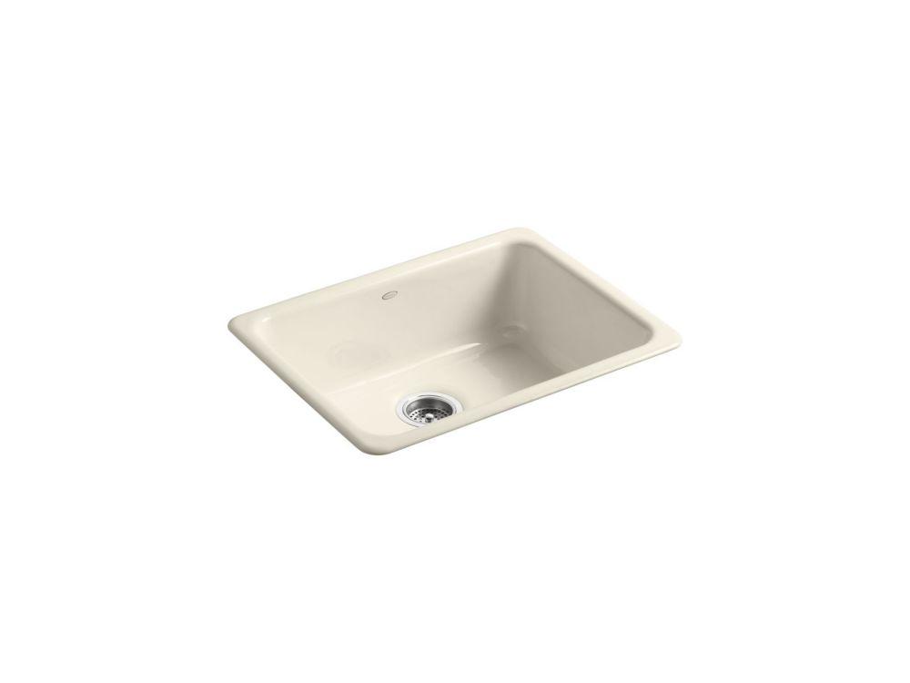 Iron/Tones Self-Rimming/ Undercounter Kitchen Sink in Almond