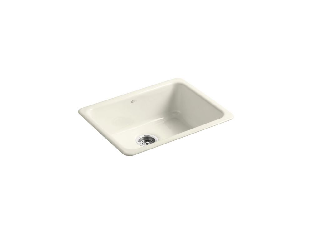 Iron/Tones Self-Rimming/ Undercounter Kitchen Sink in Biscuit
