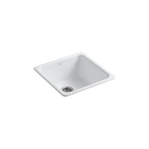 Iron/Tones Self-Rimming/ Undercounter Kitchen Sink in White