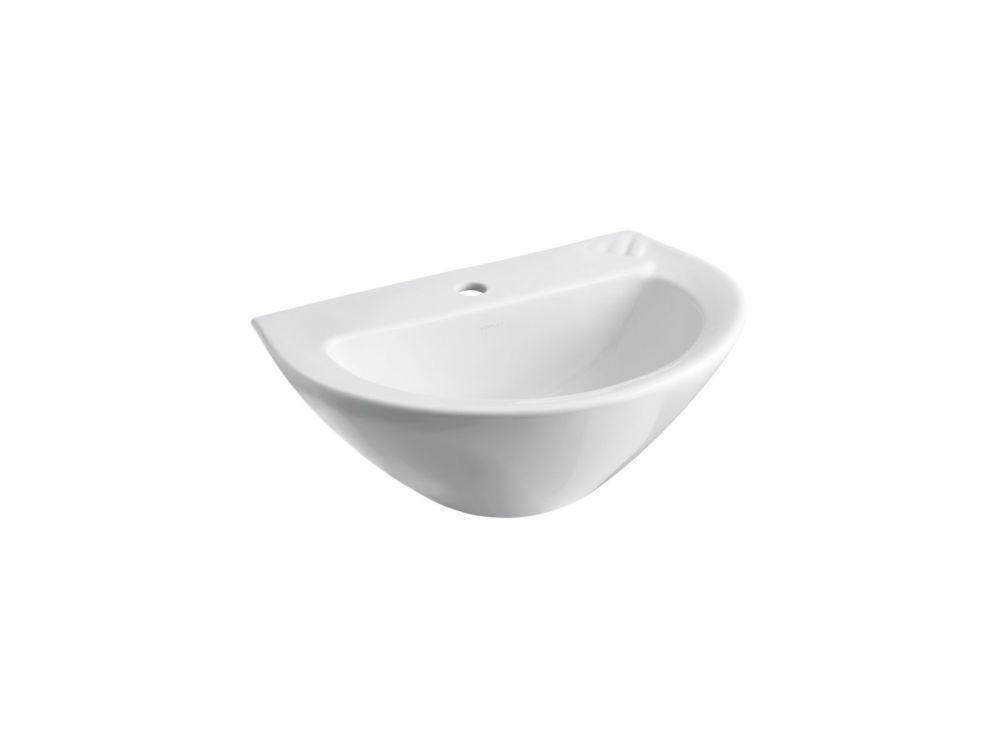 Parigi Bathroom Pedestal Sink Basin in White