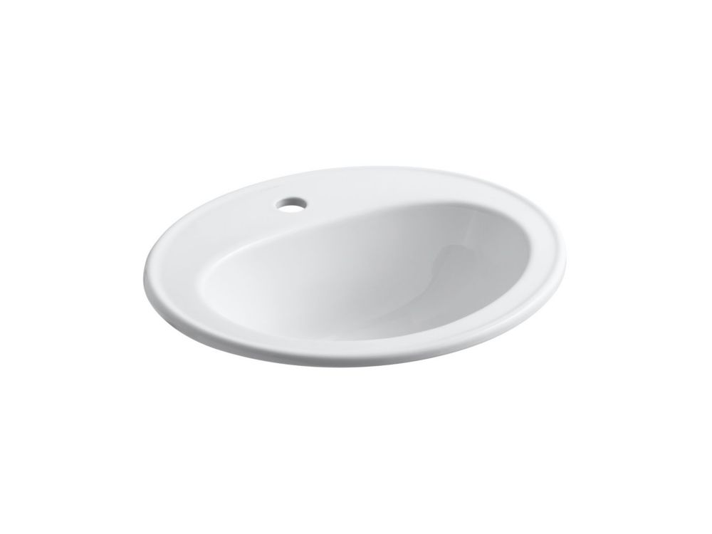 Pennington Self-Rimming Bathroom Sink in White