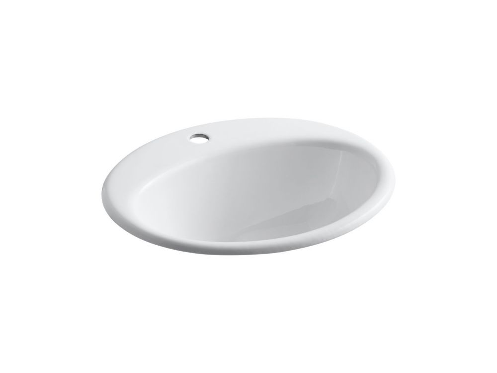 Farmington Self-Rimming Lavatory in White K-2905-1-0 Canada Discount