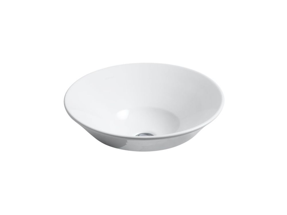 Conical Bell Vessel Sink in White