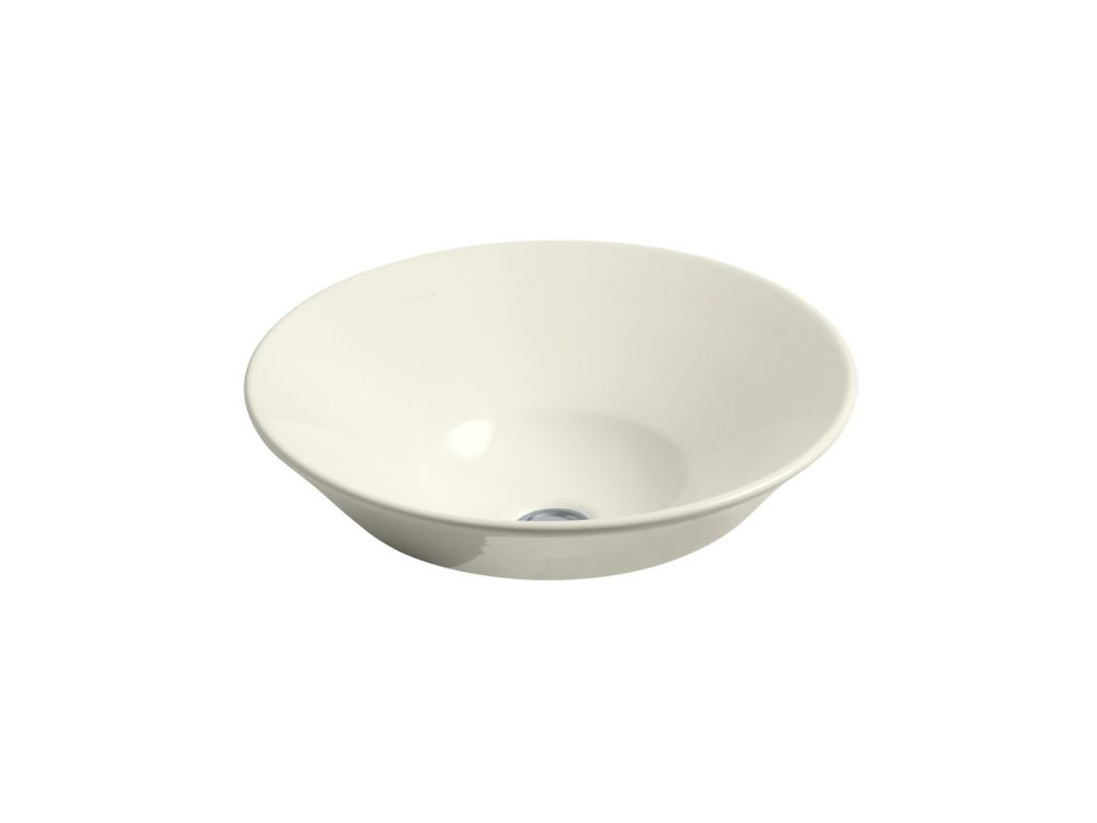 Conical Bell Vessel Sink in Biscuit