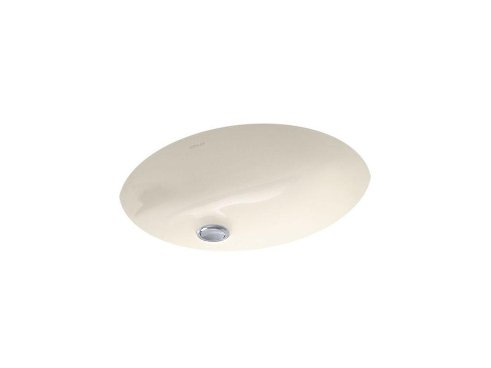 Caxton 21 1/4-inch L x 17 1/4-inch W Undercounter Bathroom Sink in Almond
