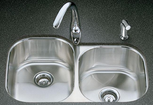 Évier de cuisine sous comptoir large/moyen Undertone(R) avec style de bassin arrondi