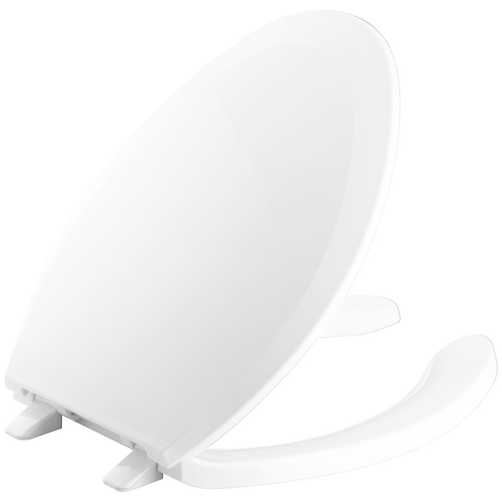 Lustra� Elongated Open Front Toilet Seat in White