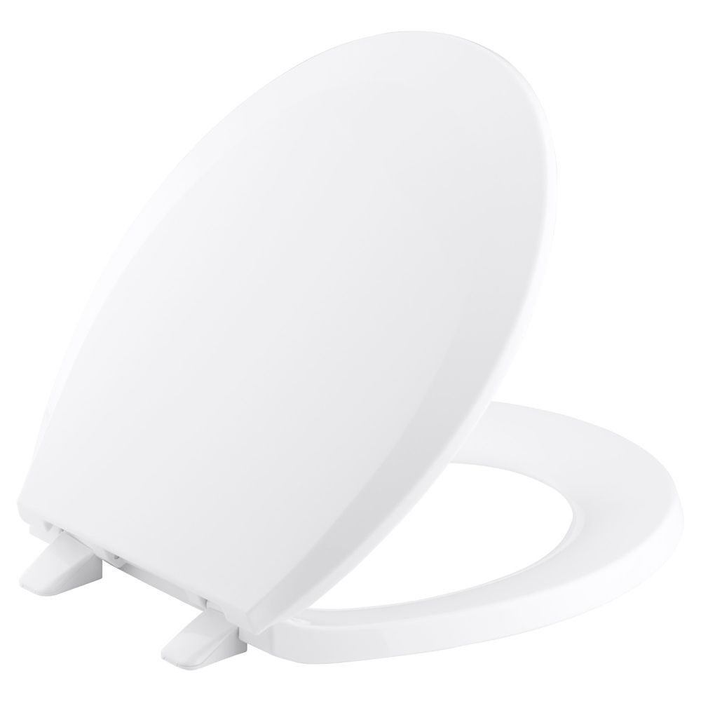KOHLER Lustra Round Front Closed Toilet Seat in White