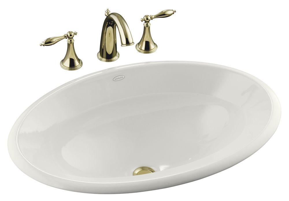 Centerpiece 25-inch L x 17-inch H Self-Rimming Bathroom Sink in White