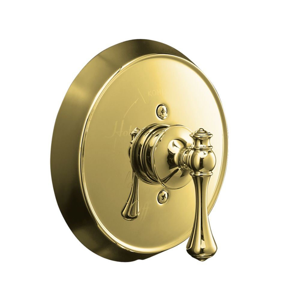 Revival Rite-Temp Pressure-Balancing Valve Trim, Valve Not Included in Vibrant Polished Brass