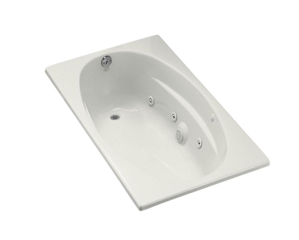 5 Feet Drop-in Whirlpool Bathtub in White