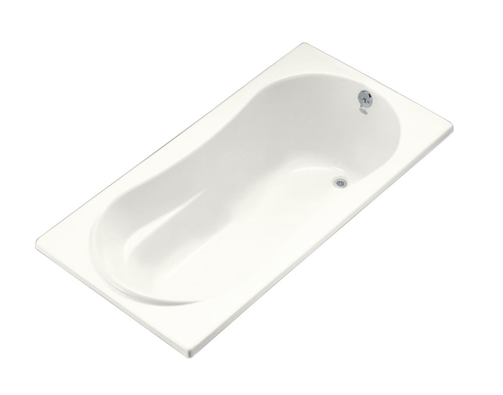 6 Feet Drop-in or Alcove Bathtub in White