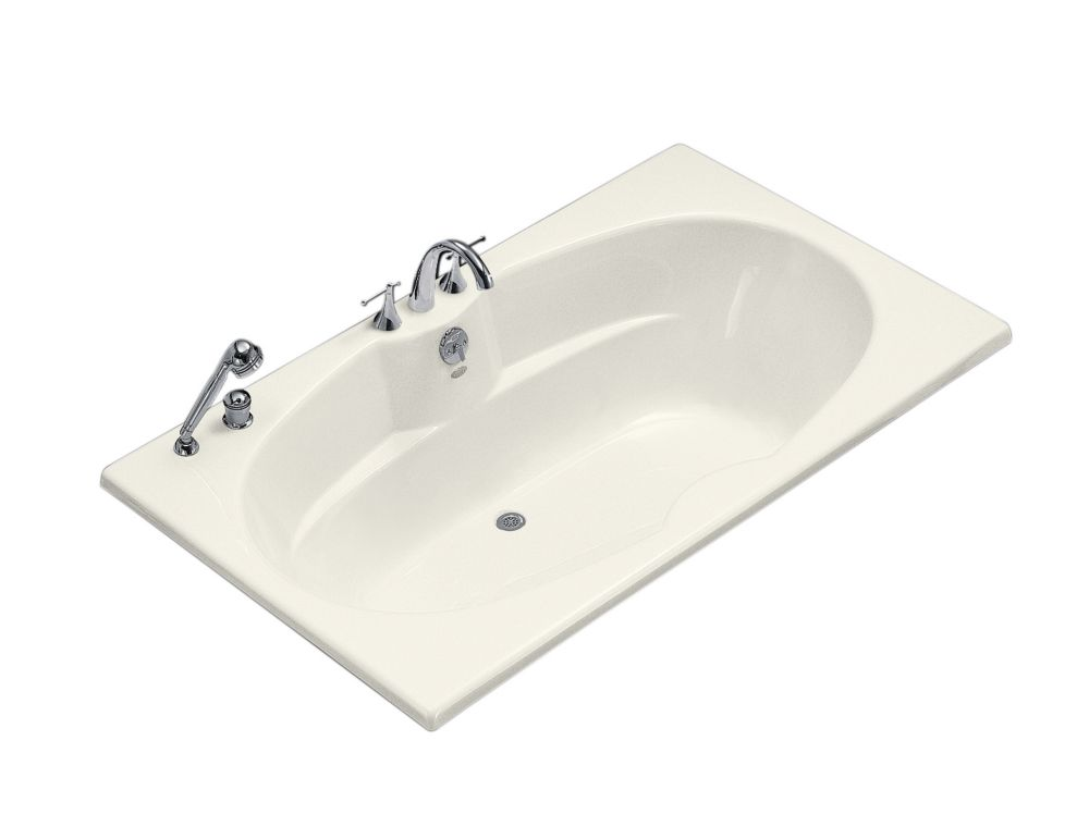 6 Feet Drop-in or Alcove Bathtub in Biscuit