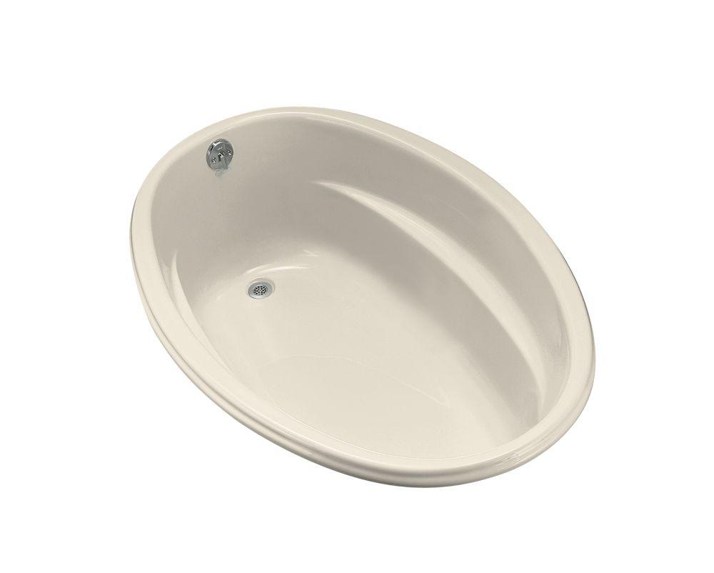 5 Feet Acrylic Oval Drop-in Bathtub in Almond