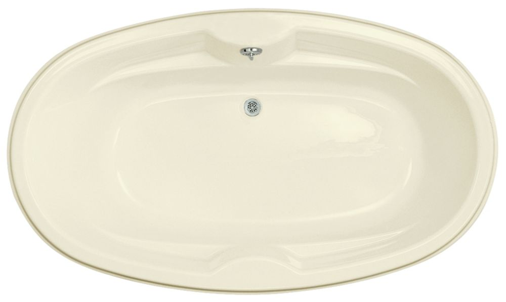 6 Feet Oval Bathtub in Biscuit