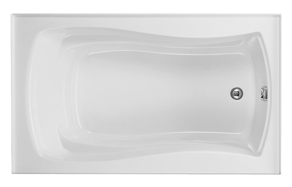 """Mariposa(R) 60"""" x 36"""" alcove bath with integral flange and right-hand drain"""